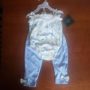 Laura Ashley 2 Piece Infant Set 6/9 Months
